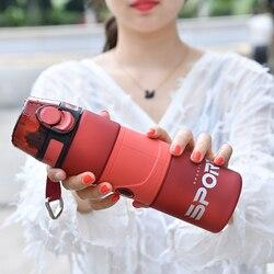 Sport Water Cup Protein Shaker Bottle Outdoor Travel Portable Leak Proof Drinkware Matte Plastic Fitness Kitchen Bottle No BPA