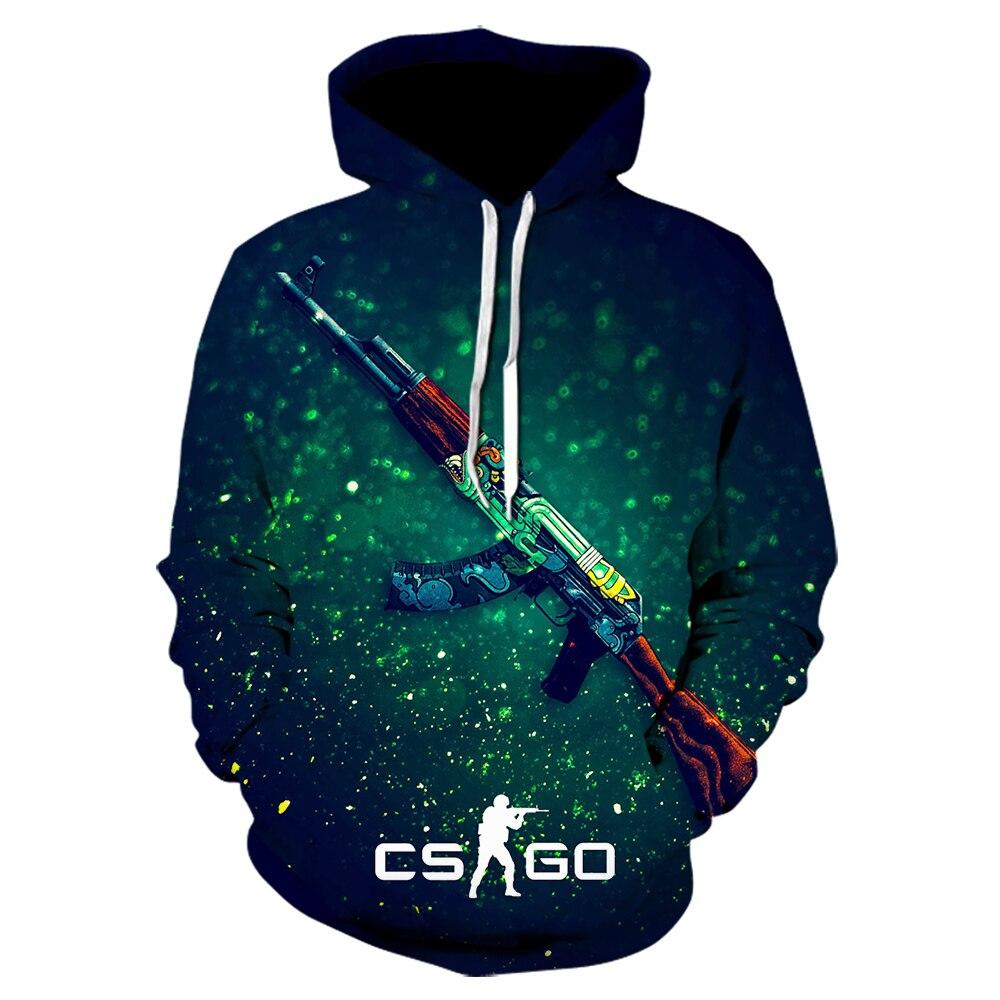 The Game CS GO Costume Men's Sportswear 2020  Brand Thick Sweatshirt Hip Hop  Hoodies Jacket Harajuku Tracksuit Hoody