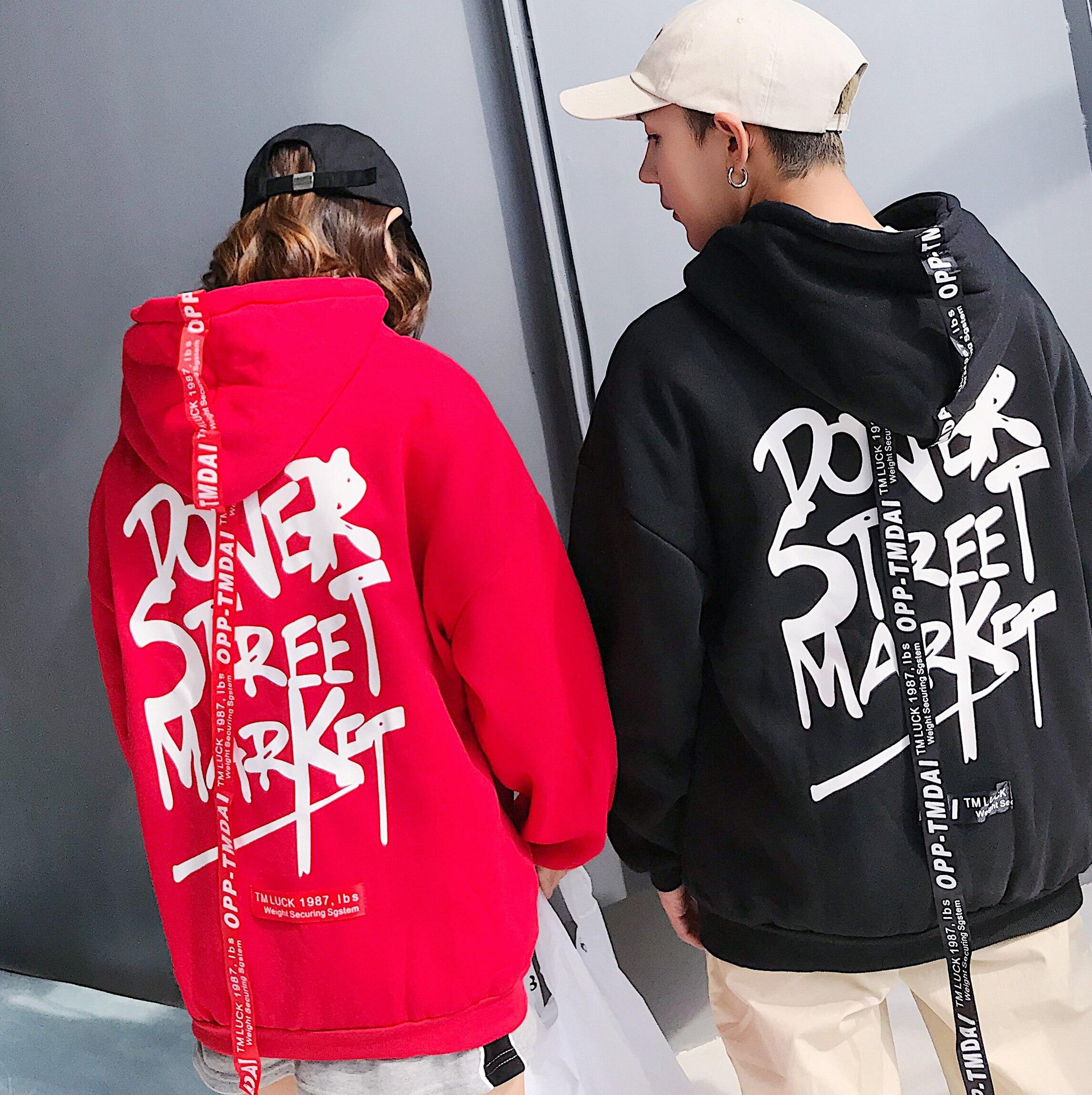 Hoodies Matching Couple Hoodies Bangtan Harajuku Hoodie Korean Hoodie Black Red Sweatshirts Kpop Clothes Women Oversized Hoodies