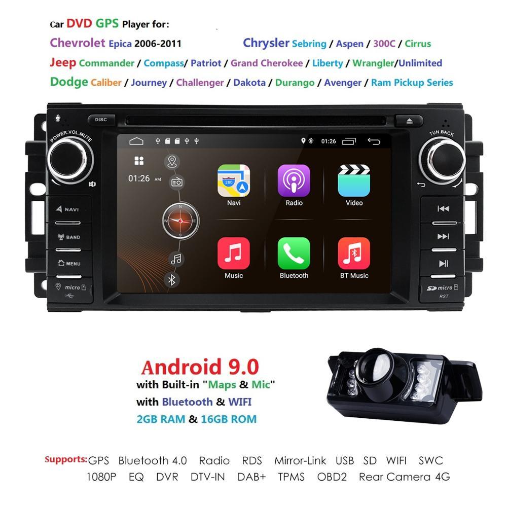 Auto Monitor Lettore DVD Per Wrangler Compass Grand Cherokee 2008-2011 Con Il GPS di Navigazione Multimediale radio volante BT DVR