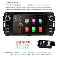 Car Monitor DVD Player For Wrangler Compass Grand Cherokee 2008 2011 With GPS Navigation Multimedia radio steering wheel BT DVR
