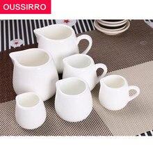 1 pcs hotel suprimentos branco puro cerâmica sem molho de leite balde cerâmica branco puro pequeno copo de leite branco pequeno copo de molho