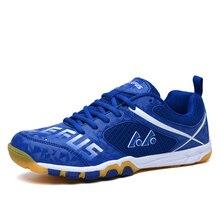 Мужская и женская обувь для настольного тенниса; спортивная уличная Мужская обувь для профессионального фитнеса; легкие кроссовки; Цвет зеленый, синий; женские кроссовки для настольного тенниса
