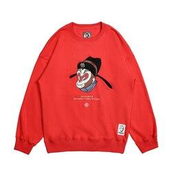 Mode mannen sweatshirts Hipster print 2019 hot koop winter hoodies hip hop streetwear loose fit katoen merk Wookong trainingspak