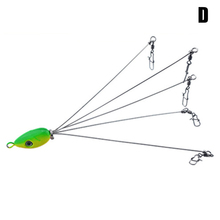 Umbrella Fishing Lure Rig with 5 Arms Bass Fishing Lure Bait with Swivel Snap Connector &T8 high quality 3d fishing bait 18cm 20g high quality fishing lure alabama rig stainless snap swivel fishing tackle group fa 347