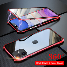 For iPhone11 Pro Max Cases Cover Magnetic case iPhone 11 360 Metal Phone Case Full Coverage
