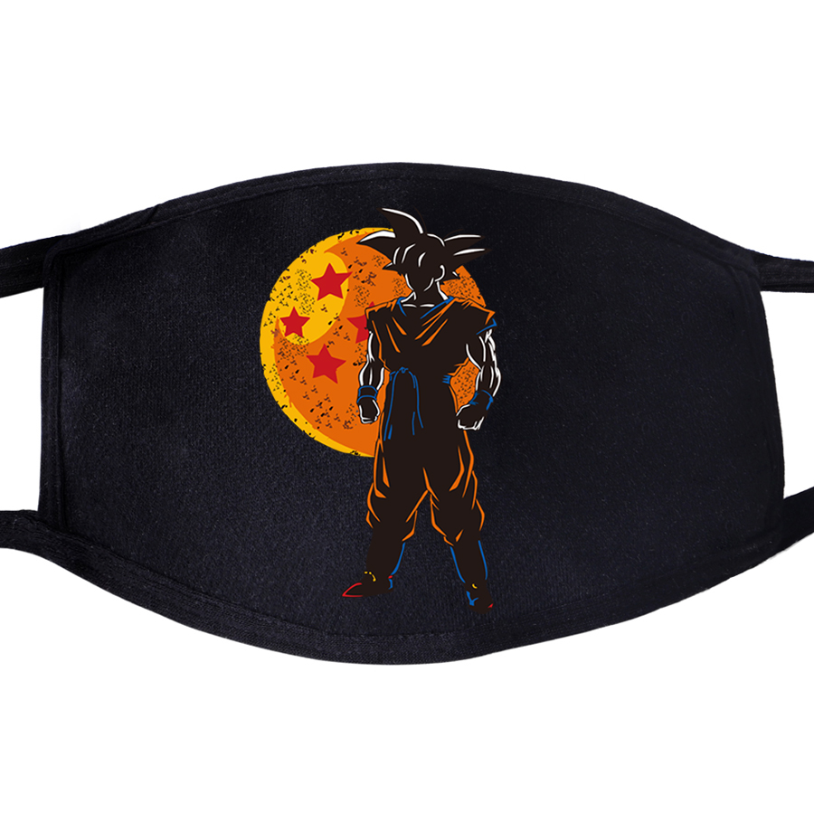 Dragon Ball Z Japanese Anime Face Masks Mouth Fabric Anti Dust Unisex Black Muffle Dustproof Protective Cover Dragonball Mask