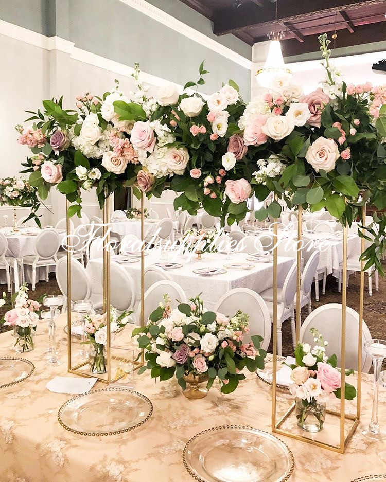 Wholesale Modern Flower Stand Metal Floral Pedestal Stand For Wedding Centerpieces Square Pillar Vases Party Diy Decorations Aliexpress
