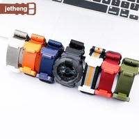 22mm Conversion RAF Nylon watch Strap +Adapters Suitable for Casio GShock DW 5600 DW 6900 GA 110 MIL Shock series