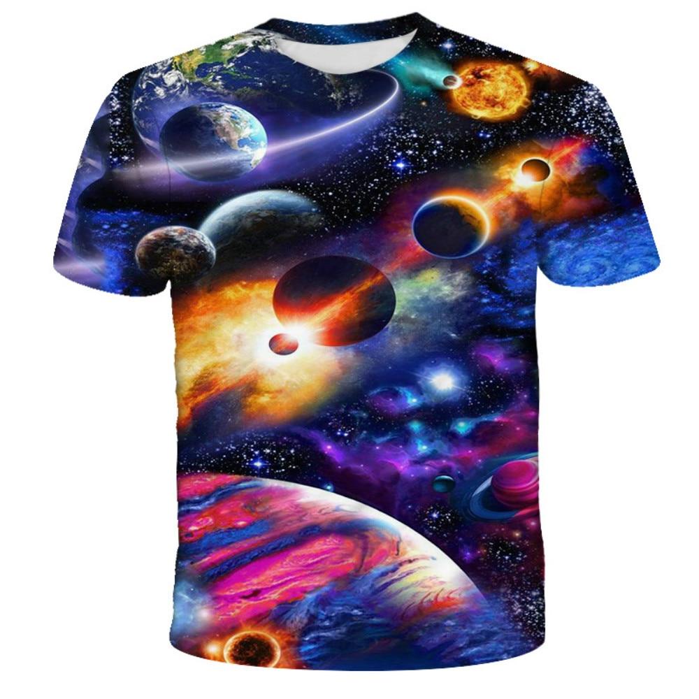 Camiseta con estampado 3D de New Space Milky Way para hombre Print Sky Stars and Planets 2021