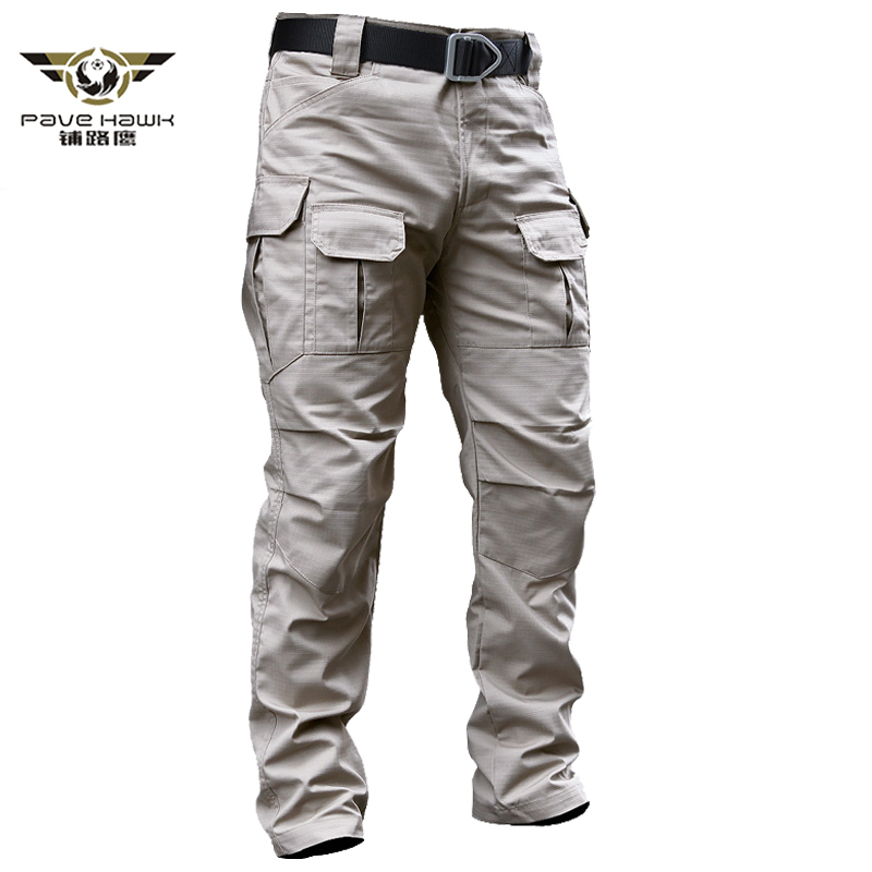Military Tactical Cargo Pants Men's Stretch SWAT Combat Rip-Stop Many Pocket Army Long Trouser Stretch Cotton Casual Work Pants
