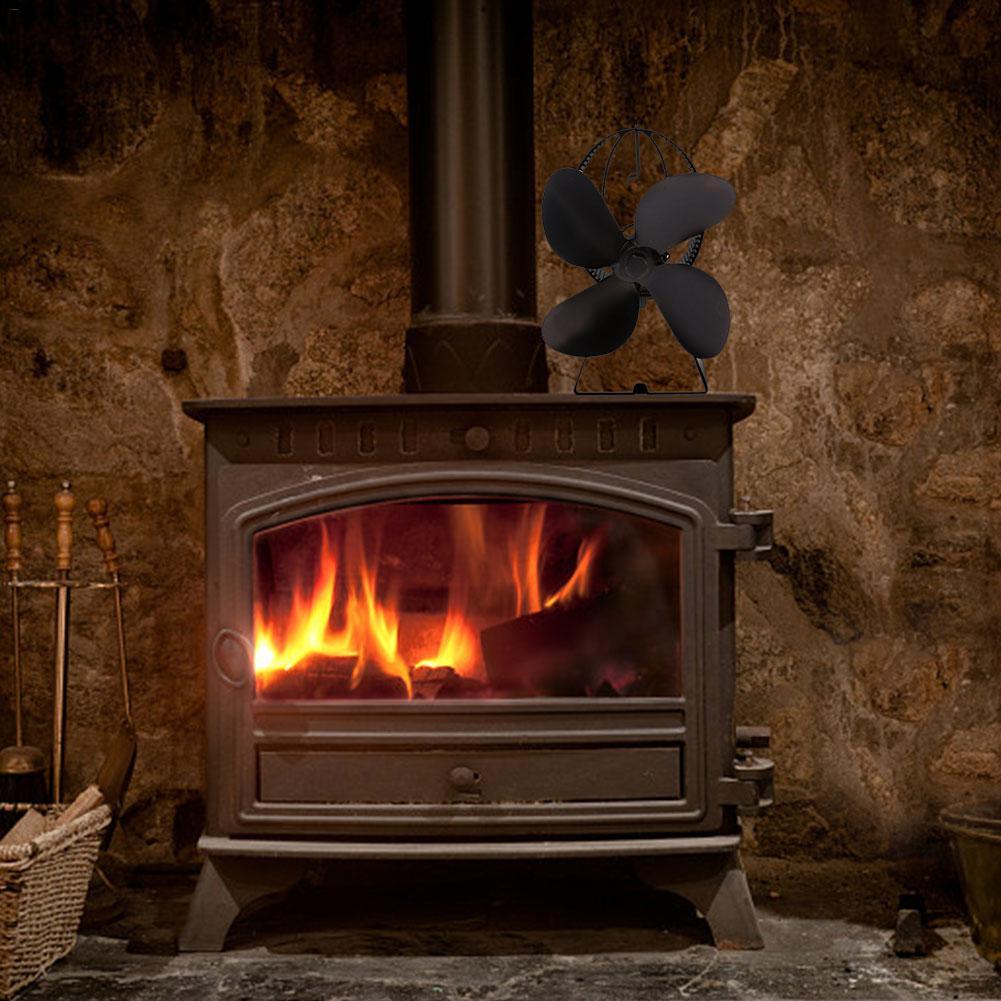 Fireplace Fan Heat Powered Stove Fan Wood Burner Eco Friendly Quiet Fan Home Efficient Heat Distribution Winter Supplies