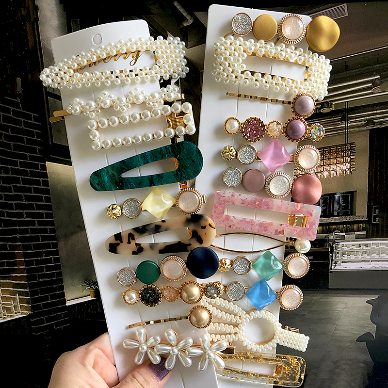 Pearl Hair Clip Barrettes For Women Girl 2020 Elegant Acrylic Hairpins Hairgrips Headwear Hair Jewelry Hairgrip Hair Accessories