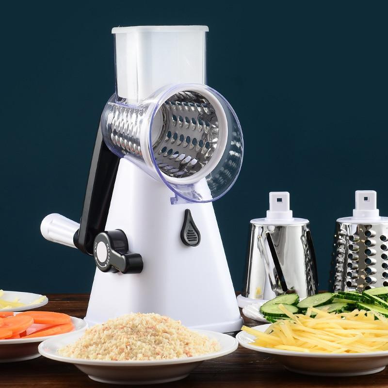 Vegetable Cutter Round Slicer Graters Potato Carrot Cheese Shredder Food Processor Vegetable Chopper Kitchen Roller Gadgets Tool