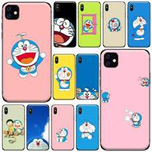 Japanese anime Doraemon Phone Case for iPhone 11 12 pro XS MAX 8 7 6 6S Plus X 5S SE 2020 XR(China)