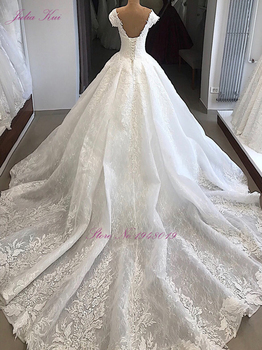 Julia Kui Sweetheart Neckline Luxury Ball Gown Wedding Dress With Delicate Appliques Off The Shoulder 2
