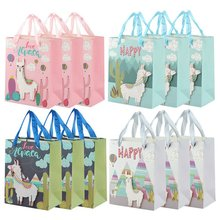 4Pcs Alpaca Llama Paper Candy Boxs Gift Bag Happy Birthday Party Wedding Decorations Baby Shower Supplies(China)