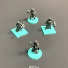 With Hammer Figures Board Game Miniatures Mini Role Playing Figure Boy Toy Gift Collection 10pcs set knights wars board game miniatures figures role playing mini figure boy toys
