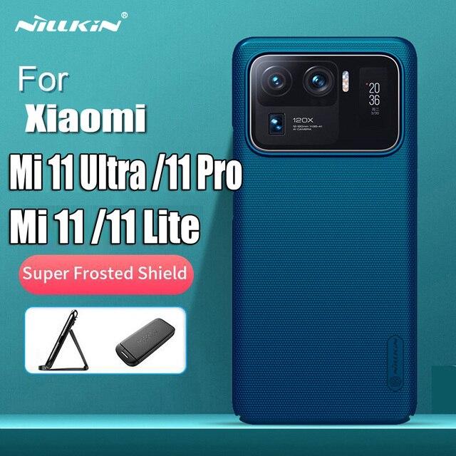 For Xiaomi Mi 11 Mi11 Lite Case NILLKIN Frosted Shield Protection Case For Xiaomi 11 Ultra Mi 11 Pro Anti fingerprint Back Cover