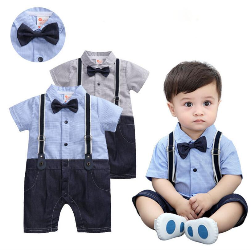 Gentleman British Style Newborn Baby Boy Clothes Romper Short Sleeves 1st Birthday Boy Outfits Suit 3 6 18 Months Baby Boy Dress Clothing Sets Aliexpress