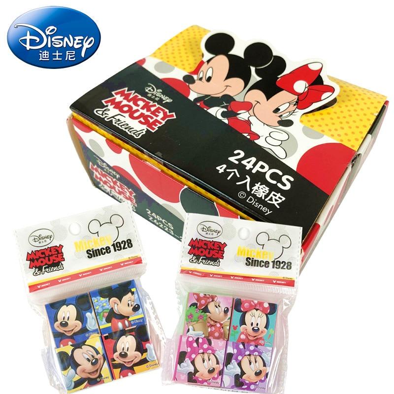 4 Pcs Disney Cartoon Character Eraser Mickey Minnie Stationery School Supplies Novelty Erasers