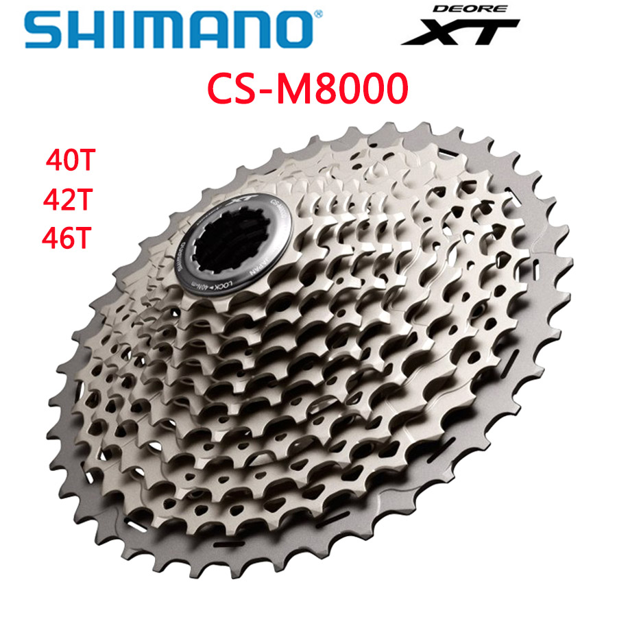 Shimano Deore XT CS M8000 Cogs Freewheel Mountain Bike MTB <font><b>11</b></font> speed <font><b>11</b></font>-40T <font><b>11</b></font>-<font><b>42T</b></font> <font><b>11</b></font>-46T M8000 Cassette Sprocket Shimano genuine image