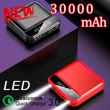 Mini Power Bank 30000mAh Doble LED USB Port External Battery