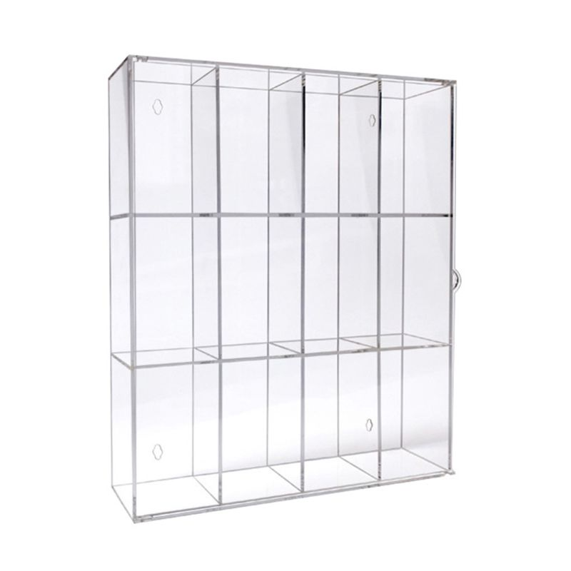 12 Grids Clear Acrylic Model Toy Display Case Action Figures  Dustproof Showcase K92D