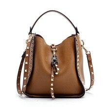 Famous Design Vintage Genuine Leather Shoulder Crossbody Bag Handbags Designer Bucket Handbags High Quality Monederos Para Mujer