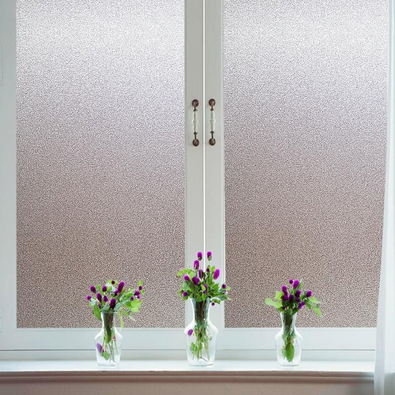 Top 30/45/60/80/90cmVinyl Frosted Window Film Waterproof Glass Sticker Home Bedroom Bathroom Office Privacy Scrubs Frost No Glue