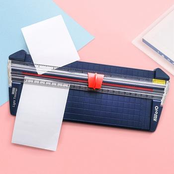 A4 gilotyna do papieru przenośna obrotowa przycinarka do papieru DIY Scrapbooking na papier fotograficzny mata do cięcia maszyna prace ręczne z papieru materiały biurowe tanie i dobre opinie KW-TRIO Instrukcja 13930