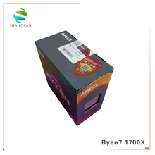 새로운 오리지널 박스 AMD Ryzen 7 1700X R7 1700X 3.4 GHz 8 코어 CPU 프로세서 YD170XBCM88AE 소켓 AM4 쿨러 팬 없음
