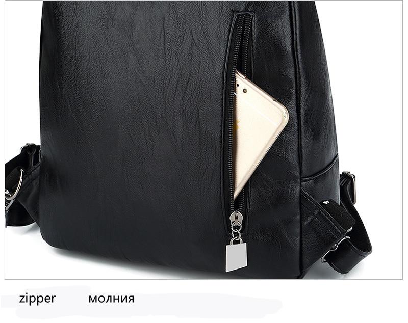 Women's Vintage Leather Backpack 15