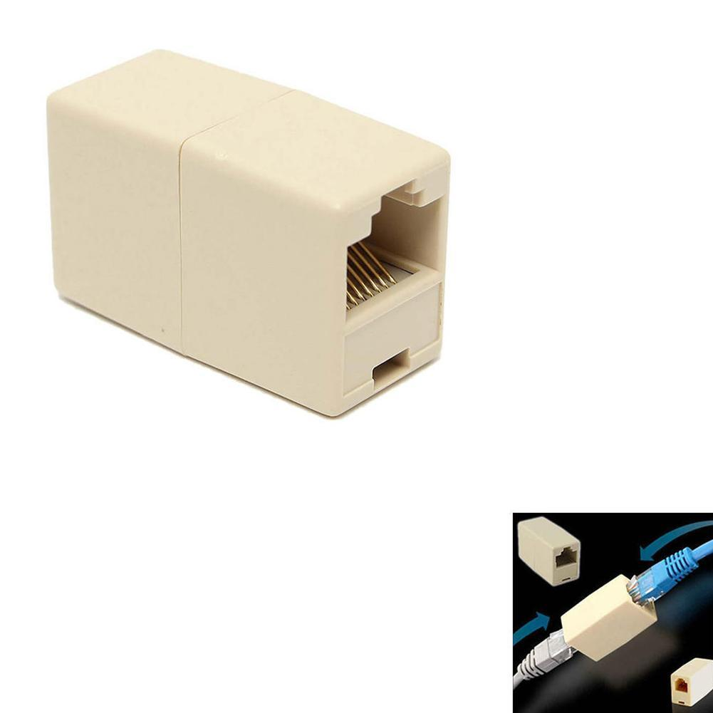Universal RJ45 Cat5 8P8C Socket Connector Coupler For Extension Network Plug Extender LAN Cable Broadband Ethernet Joiner R9A6