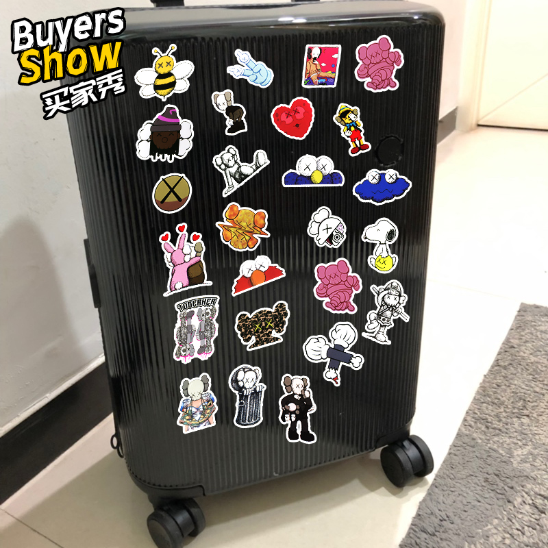 95Pcs Set Sesame Street Decal Stickers For Luggage Laptop Notebook Refriger Car Styling For Gift PVC Waterproof Stickers in Stickers from Toys Hobbies
