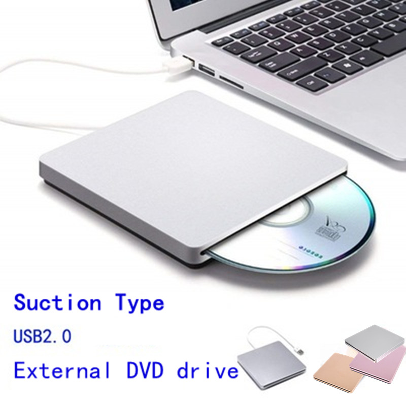 3 Colors External USB Slot-Loading CD DVD Player Mobile Optical Drive Computer All-In-One Universal Plug And Play 24 Speed