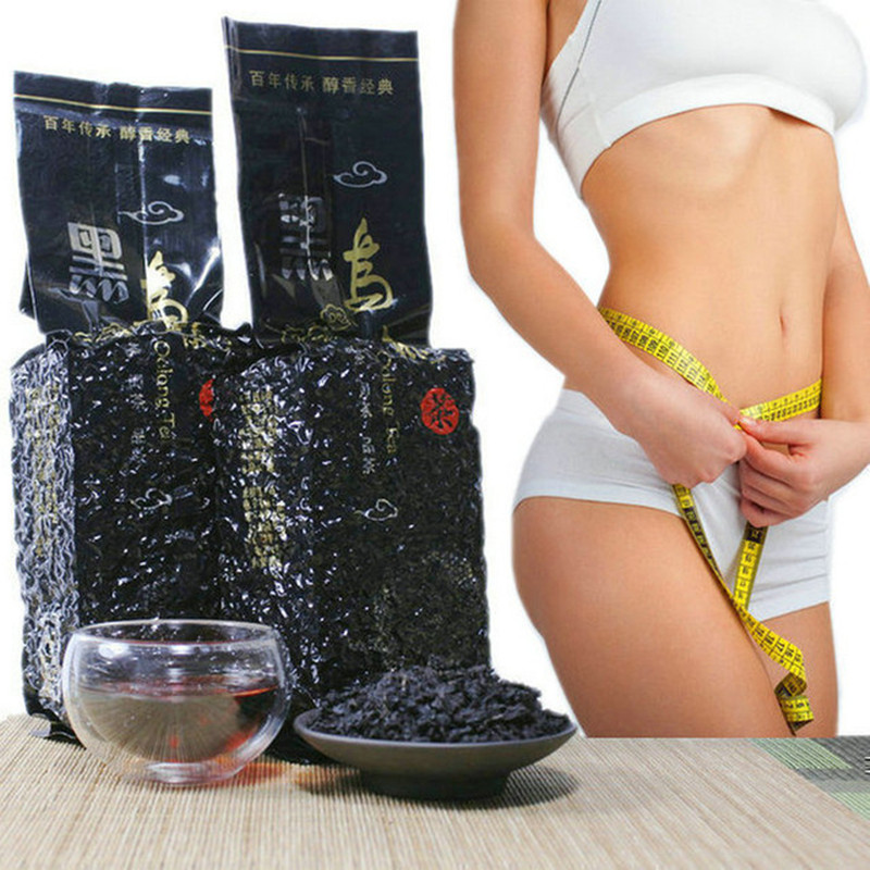 2020 Olonng Tea Oil Cut Fast Weight Loss Black Oolong Tea Baked Fat Burn Slimming Fit Diet For 250g Vacuum Packaging Black Tea