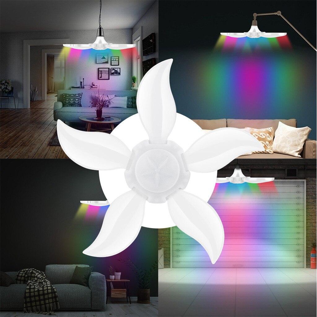 Светодиодные светильники для гаражного магазина, домашний потолочный светильник, деформируемая лампа 75 Вт E27 140led E3