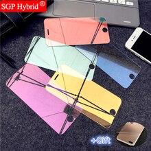 Цветное зеркальное закаленное стекло для защиты экрана+ задняя пленка для Apple Iphone 6 S 6 S I6 I 6 S Plus, защитная пленка для телефона, чехол-сумка