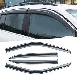 سيارة الجسم التصميم البلاستيك زجاج النافذة الرياح قناع المطر/الشمس الحرس تنفيس سيارة يغطي صالح ل ميتسوبيشي الكسوف عبر 2018 2019