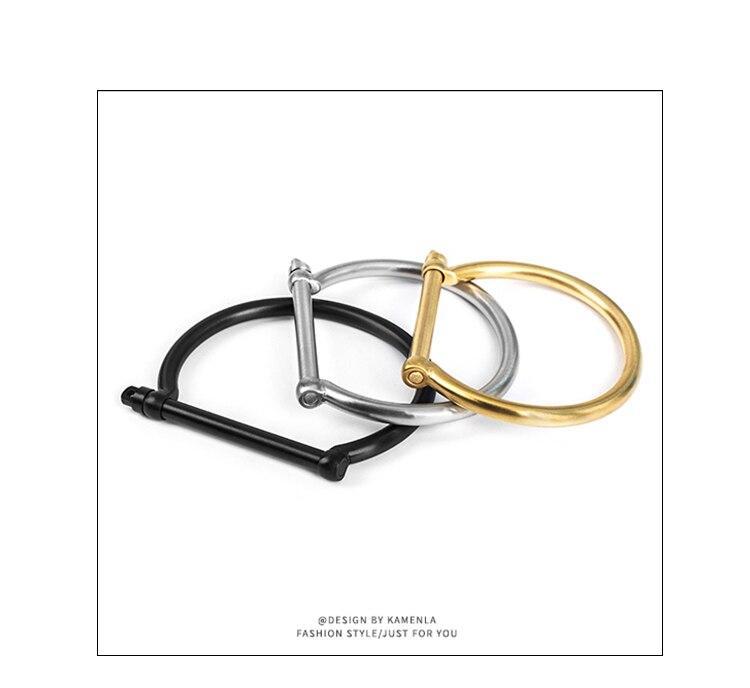 DB224 Titan stahl paar armband mit original naval stil rechteckigen anker haken und hufeisen schnalle