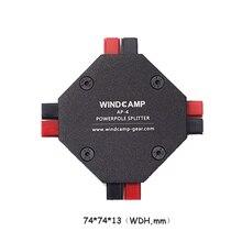 AP 4 30A powerpoleスプリッタ4 CH電源供給分配アマチュア無線