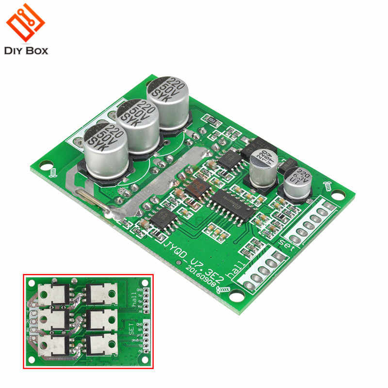 Dc 12v 36v 500w Pwm Brushless Dc Motor Controller With Hall Bldc Driver Board Jy01 24v 20a Car Driver Control Board Module Building Automation Aliexpress