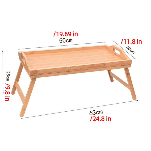 Wooden Portable Foldable Computer Laptop Desk Adjustable Notebook Desk Table Bed Sofa Breakfast Tray Picnic Table Studying Table 6
