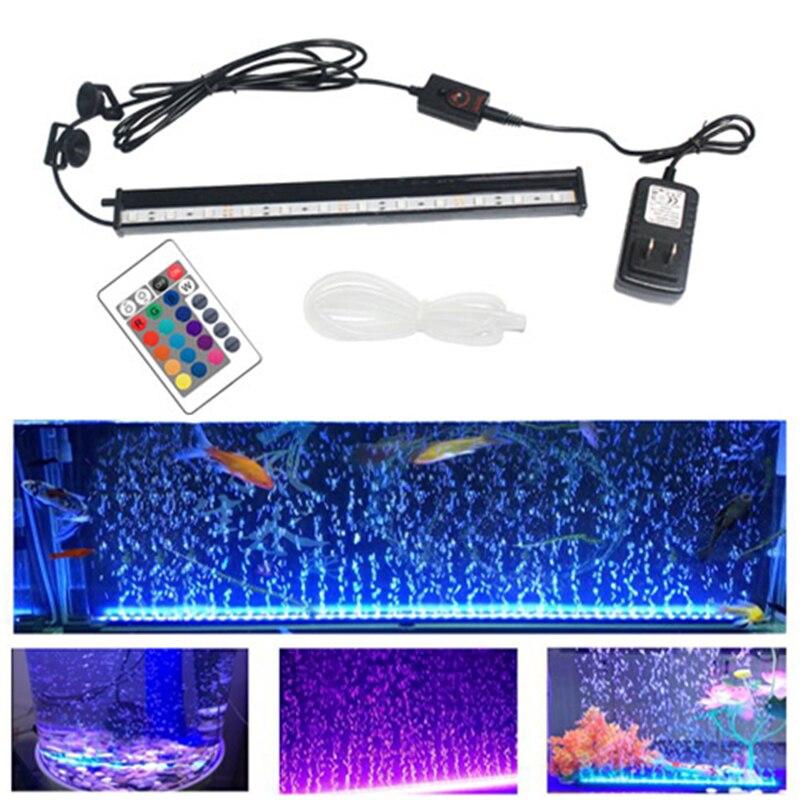 Aquarium Bubble Light Fish Tank Submersible Light EU/US Plug Aquatic Air Bubble Oxygenation Lamp LED Aquarium Light