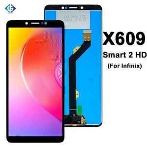 Image 1 - 6.0 tam Lcd için Infinix akıllı 2 HD X609 LCD ekran dokunmatik ekranlı sayısallaştırıcı grup için yedek parçalar Infinix X609 ekran
