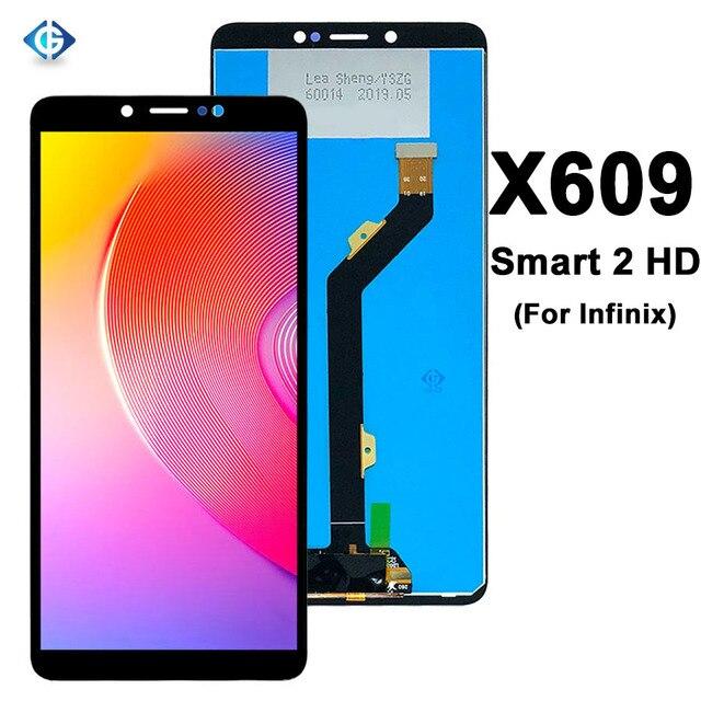 6.0 tam Lcd için Infinix akıllı 2 HD X609 LCD ekran dokunmatik ekranlı sayısallaştırıcı grup için yedek parçalar Infinix X609 ekran