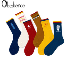 New fashion Japanese Harajuku style creative tri-color socks Soft Novelty Cotton female Autumn and winter trend