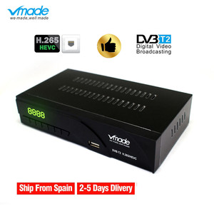 Image 1 - DVB T2 K6 DVB t H.265 HEVC الرقمية HD مستقبل التلفاز الأرضي يدعم AC3 يوتيوب DVB T2 MPEG 2 موالف التلفزيون صندوق مع RJ45 LAN