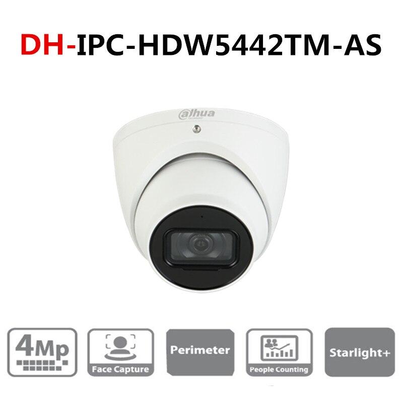 Version anglaise originale DH 4MP WDR IR globe oculaire AI caméra réseau IPC-HDW5442TM-AS prise en charge mise à jour avec Logo